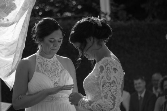Zwei Bräute - Ringtausch - Foto Liosa Fotografie
